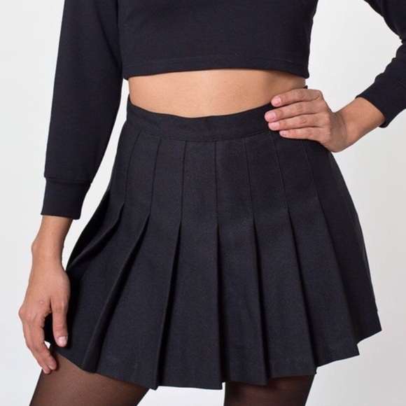 45d9a3a11e2c American Apparel Skirts | Black Pleated Tennis Mini Skirt | Poshmark